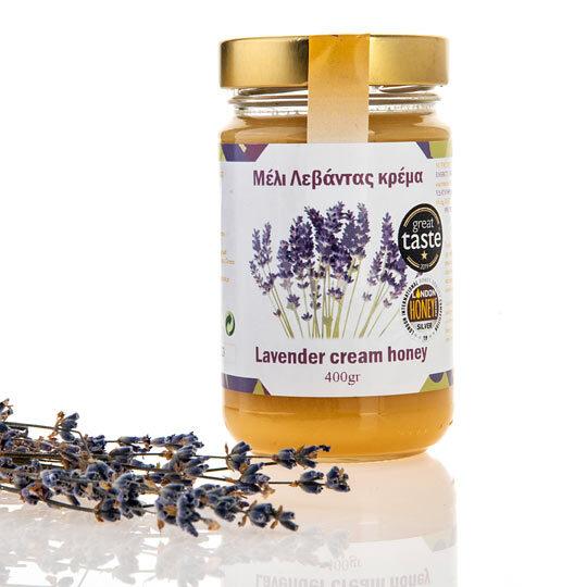 12 ΣΤΡΕΜΜΑΤΑ  (Φωτολίβος Δράμας)  Μέλι Λεβάντας σε μορφή κρέμας,  συσκευασία 400 γραμμαρίων