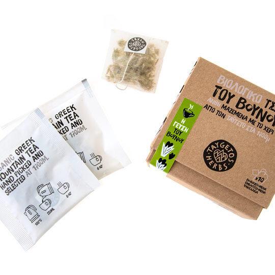 TAYGETOS HERBS (Ταύγετος), Βιολογικός Σιδερίτης (τσάι του βουνού) – συσκευασία 10 tea bags (10 φλυτζάνια)